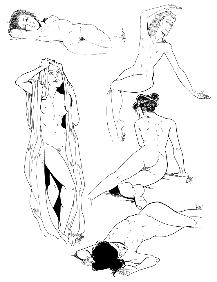 Figure Drawings 6-28